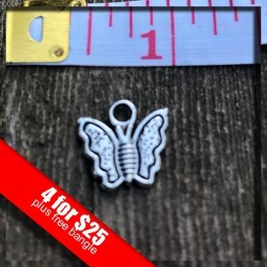 ❤️4 for $25❤️  Silver Butterfly Charm NWOT